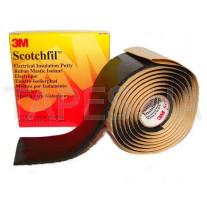 Изолента 3M Scotchfil™ 110 электроизоляционная мастика Скотчфил (38мм х 1,5м х 3,18 мм)