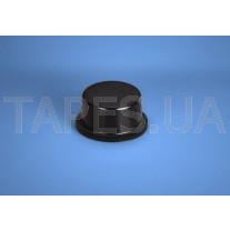 Цилиндрический бампер BS-6 черный цвет, H=6,4мм, D=12,7мм, BS Inc.