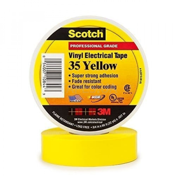 3m scotch vinyl 35 yellow