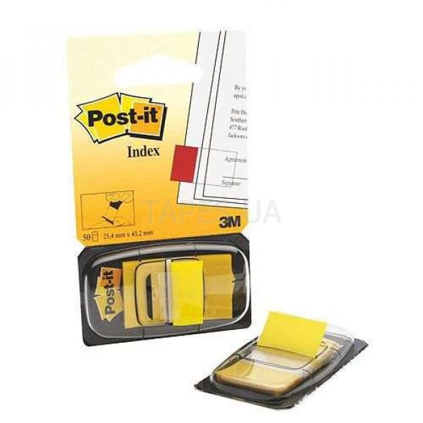 Клейкие закладки 3М Post it 680-1, желтый