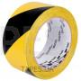 Разметочная лента 3М 766I желто-черная на основе ПВХ, виниловый скотч с каучуковым клеем, для предупредительной разметки, маркировки (50мм х 33м х 0,125мм)