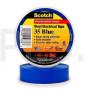Изолента 3М Scotch™ 35 Blue высшего класса поливинилхлоридная ПВХ всепогодная (19мм x 20м x 0,18мм), синяя