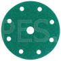 Абразивный диск (круг) 3М 00316 Hookit™, зеленый 245, LD801А, Р60, диаметр 150 мм, 9 отверстий