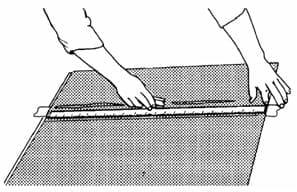 Наклеивание влажным способом полупрозрачных пленок 3М™ после трафаретной печати, термопечати или раскроя 10