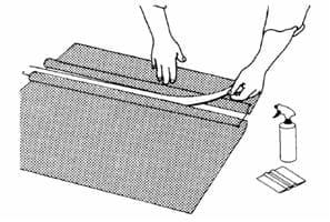 Наклеивание влажным способом полупрозрачных пленок 3М™ после трафаретной печати, термопечати или раскроя 12